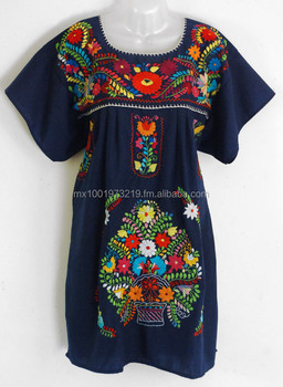 Embroidery Dress Mexican Craft Mini Dress Fantastic Design Buy
