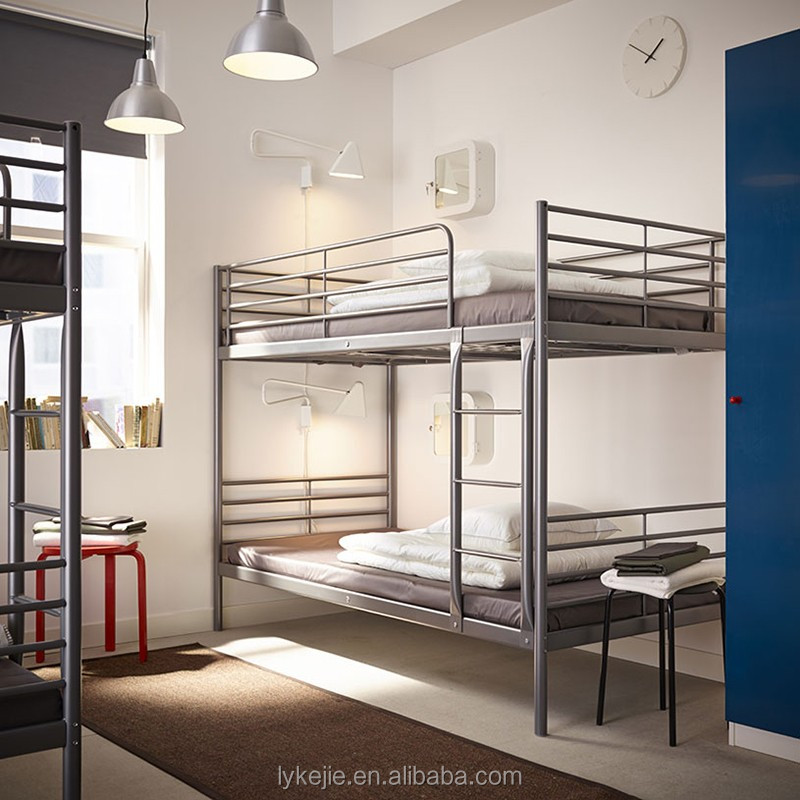 Hot selling kids double deck bed cheap steel bunk bed and for Cheap double deck bed