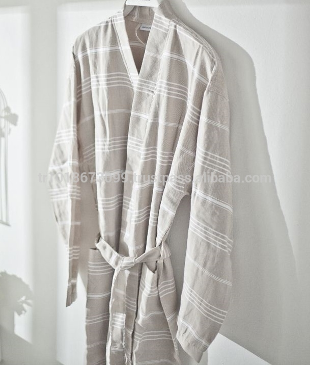 Turkish Towel Peshtemal Cotton Robe,Hamam Or Hammam