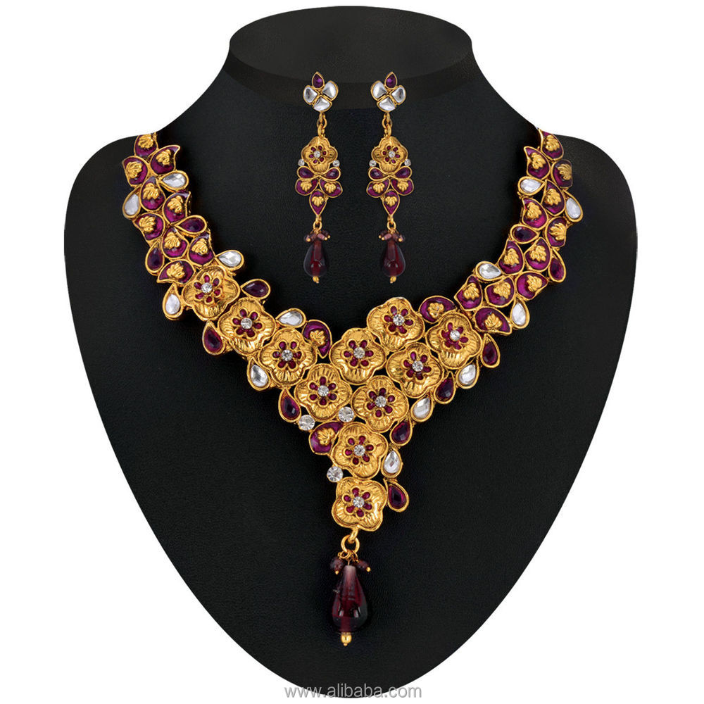 b23150ccaa Radiant Anmol 1 Gram Gold Plated 14 Jewellery Set - Buy Indian ...