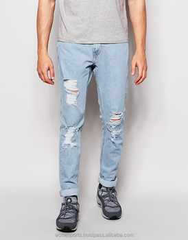Distressed Denim Jeans Pants Distressed Newest Hot Sale Fashion