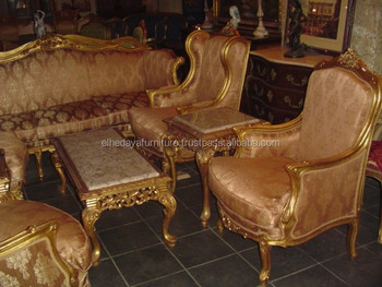 Antique Style French Sofa Set For