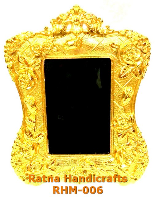 RH Antique look Golden Double Mirror RHM-006