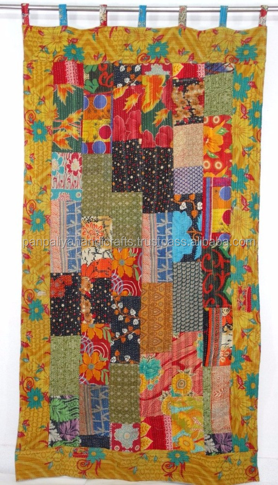 Vintage Kantha Curtain,Indian Sari Curtain,Sari Kantha Curtain,Reversible  Curtain,Vintage Kantha Patchwork Curtain   Buy Vintage Kantha Curtains,Sari  Kantha ...
