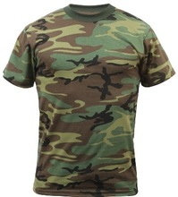 camouflage T shirts - army green t shits- custom made v neck t-shirt/ oem camo t shirts / customized tee