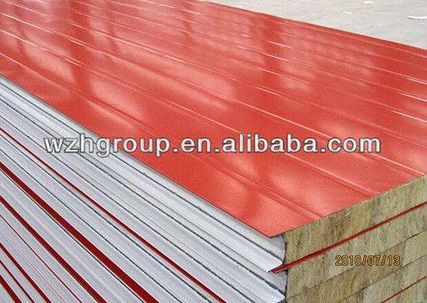 Heat Resistant Wall Foam Protection Rockwool Roofing Tile Sandwich Panels