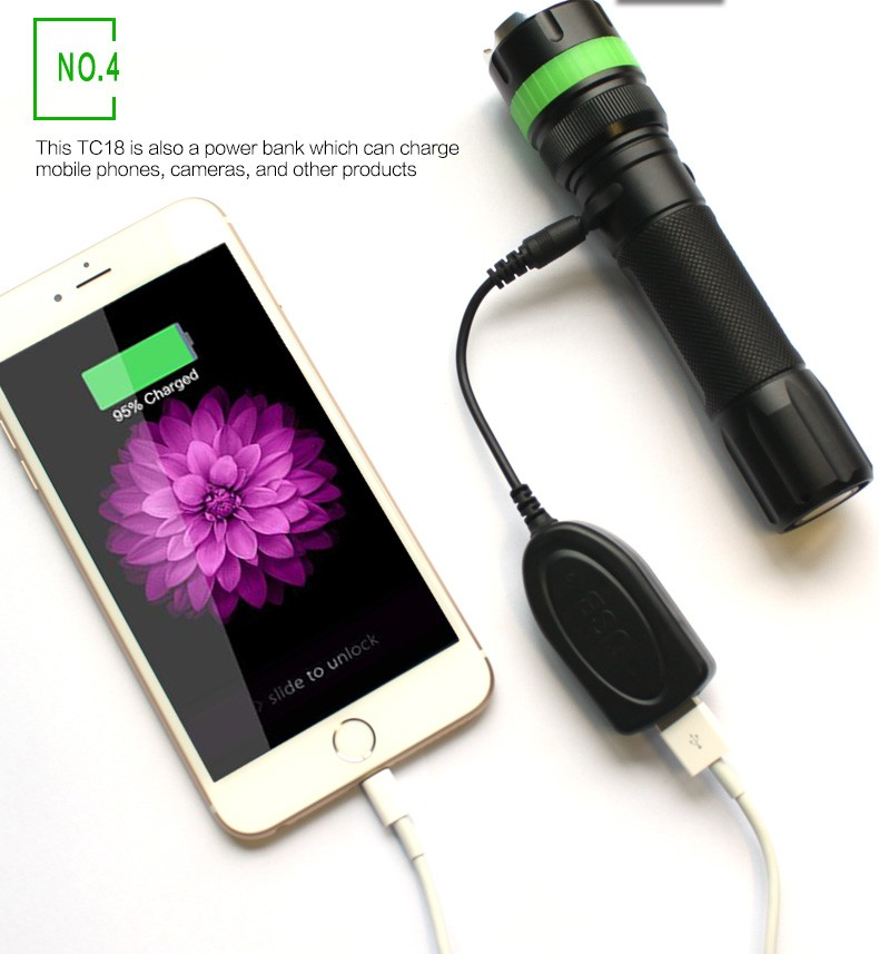 Newly Designed Police Rechargeable Light Led Flashlight Torch ...