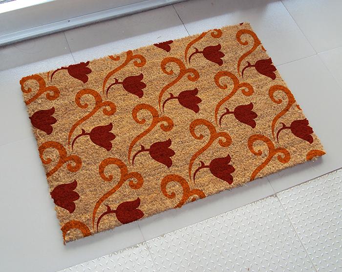 Door Mat PVC Backed Coir Doormat 70cm x 40cm mats