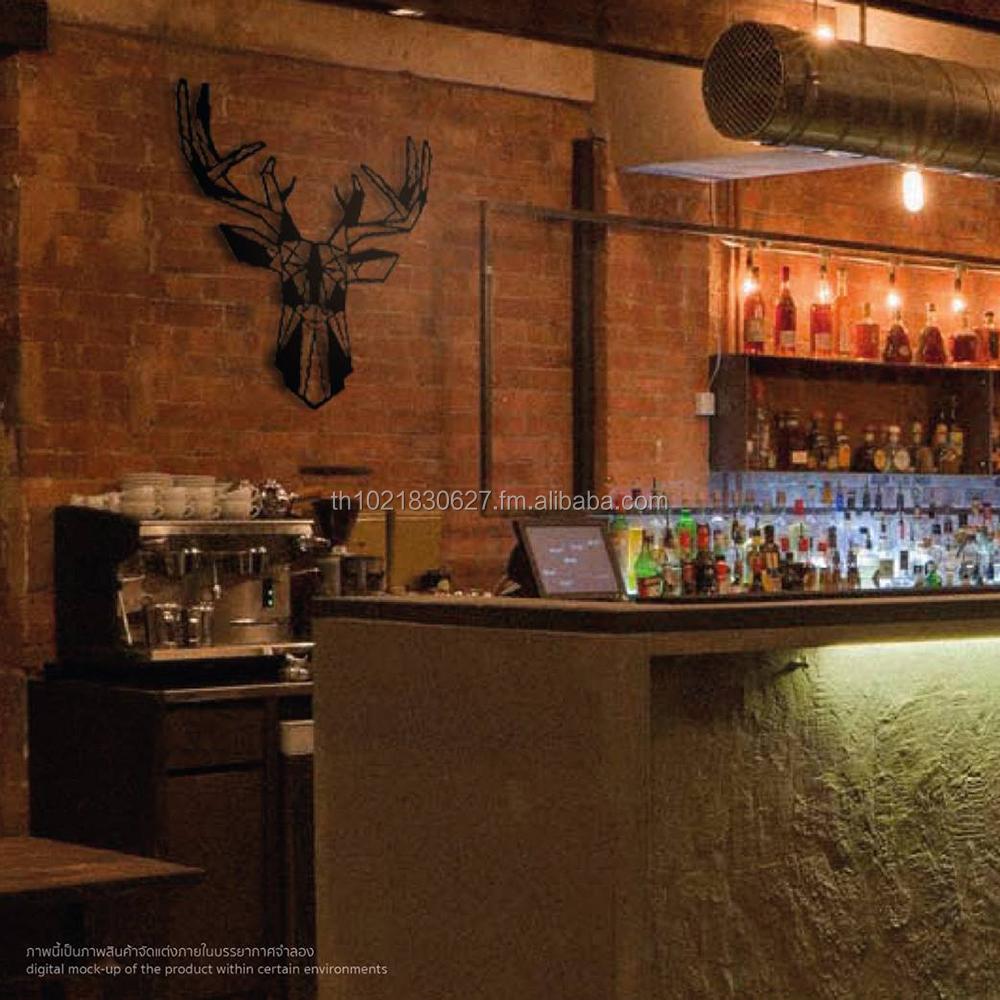 grote stalen wand hert herten hoofd metalen wanddecoratie