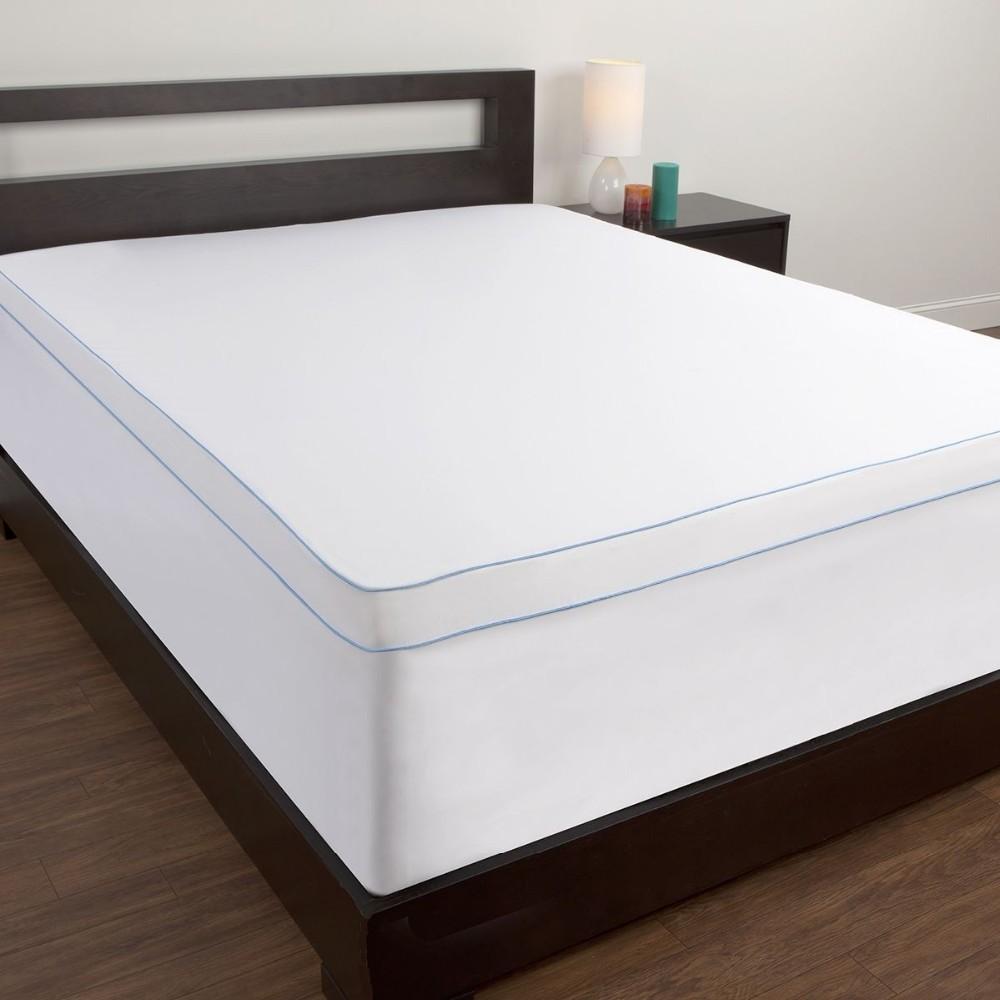 Comfort Memories Memory Foam Topper Cover Full Back Pain Mattress Pad Bed  Soft