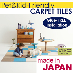 Pet-friendly and Washable Light Blue Carpet Tile Carpet Tile for Home and Hotel Use , Samples also Available