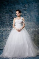 High Quality Voile Bridal Wedding Dress White Ball Gown