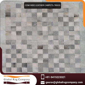 Cow Hide Rug Leather Patchwork Carpets Made In India Supplier Hand Carpet Price Product On Alibaba