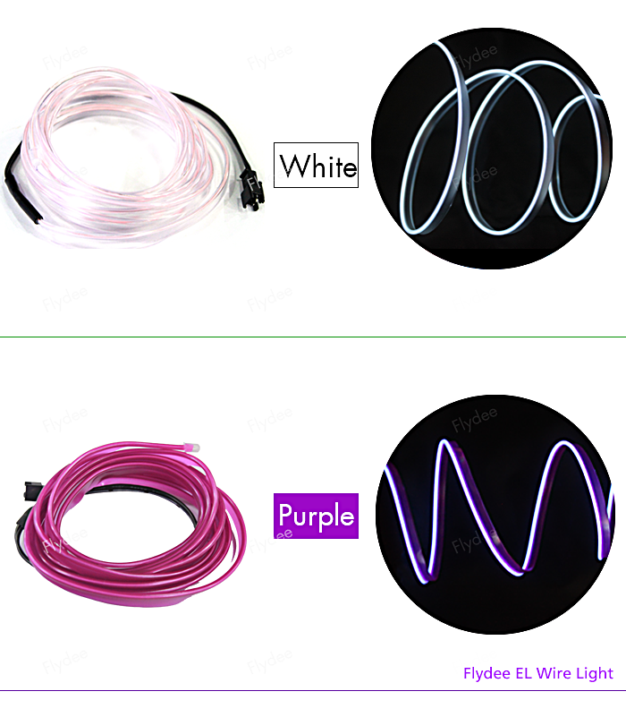 Ultra El Wire Different Color Christmas Decorative Welted Neon Light ...