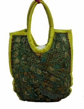 Indian Hand Made Moti Work Hand Embroidered Bag Purse Handbag