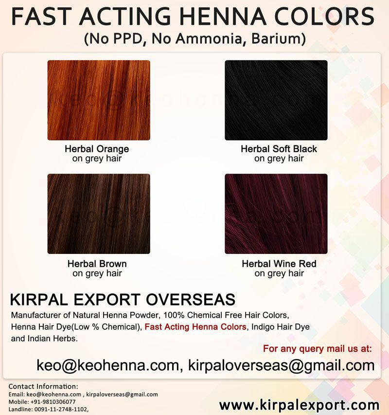 Private Label Natural Henna Hair Colors Colour Cover Gray