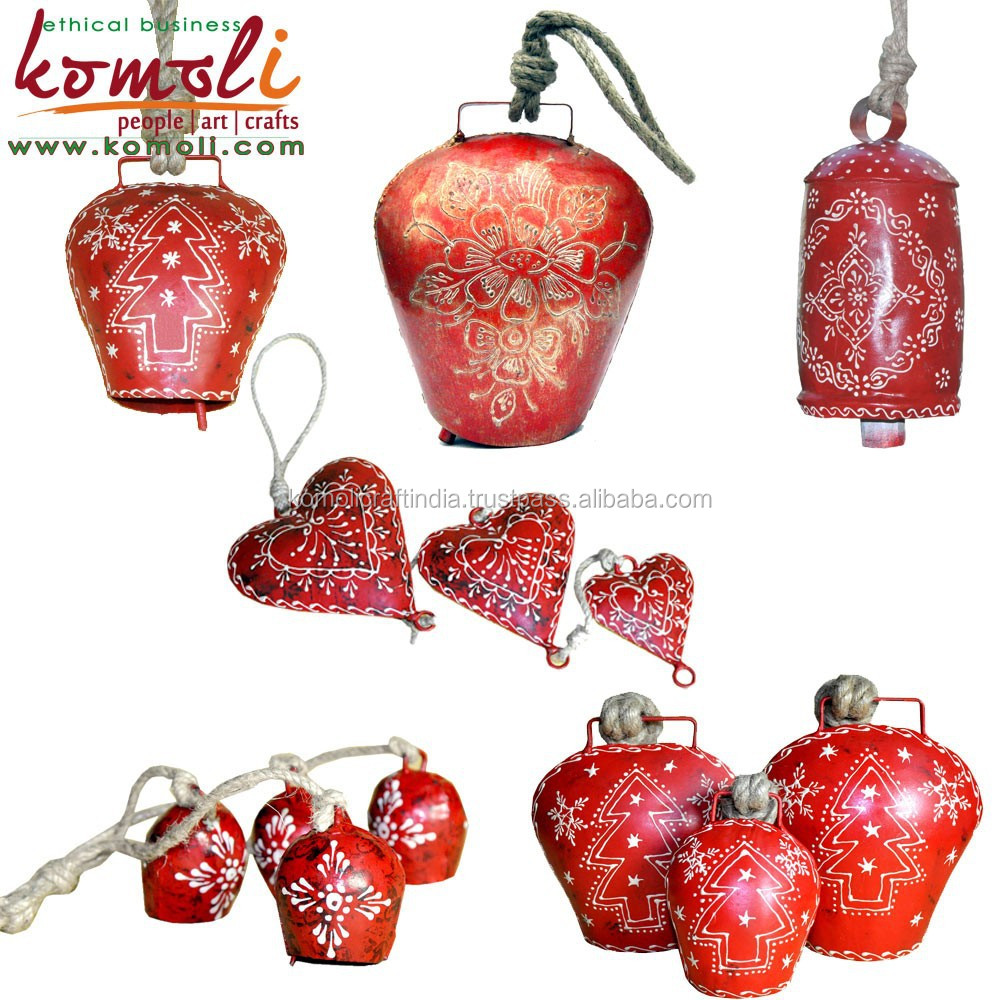 Fantastic Metal Christmas Cowbell Hand Paint Wholesale Cow Bells ...