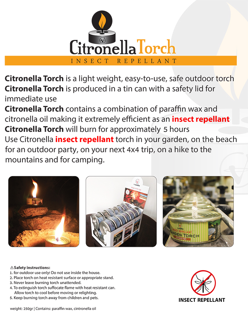Citronella Outdoor Garden Torch Can Candle Natural Mosquito Repellent  Wholesale - Buy Insect Repellent Candles Garden Torch Candle Outdoor  Mosquito