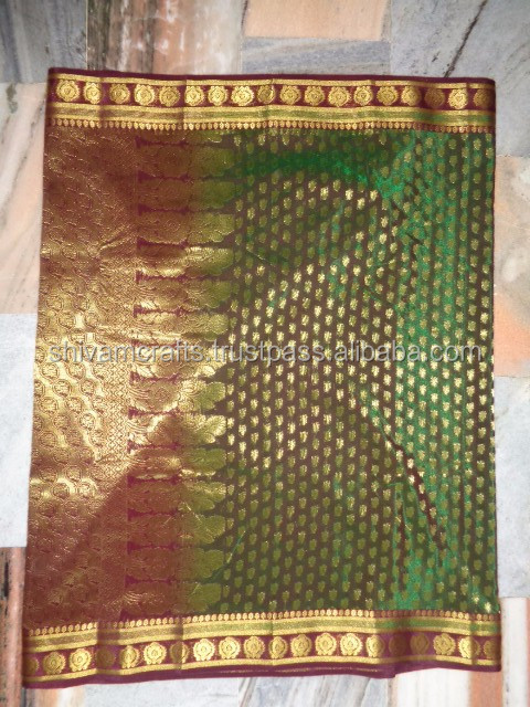 HEAVY WORK ART SILK BANARASI SAREES PACK OF 25 PCS