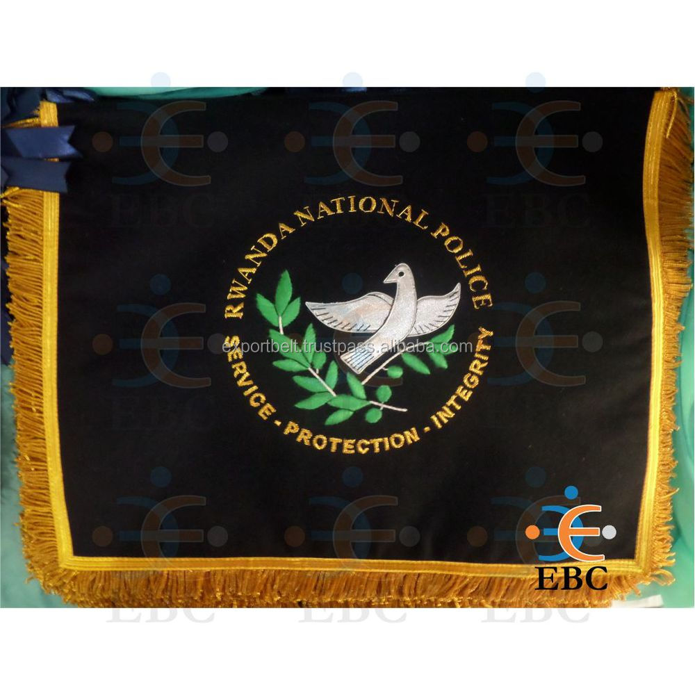 Hand Embroidered Flag, banner, pennants