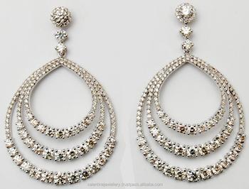 Diamond Dangler Earrings Exporter