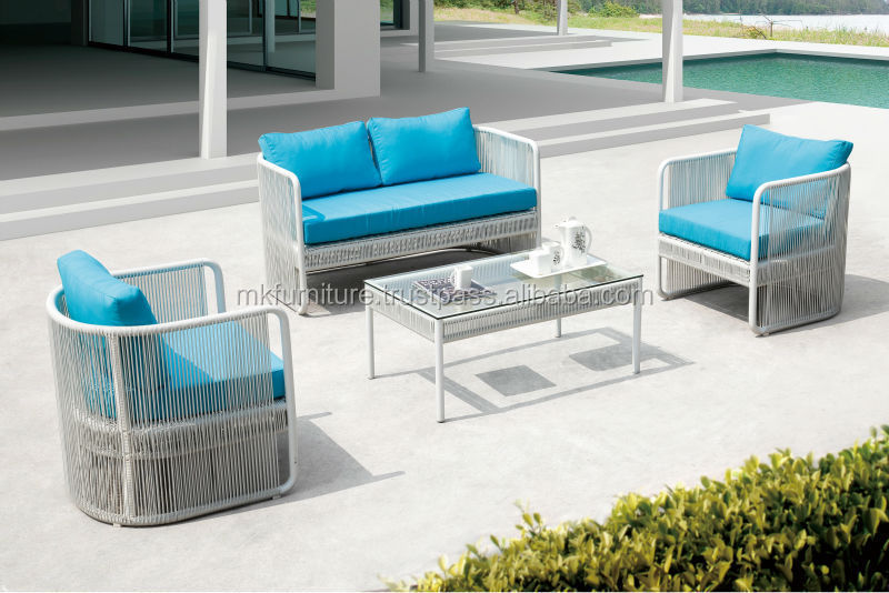 New Design Wicker Rattan Outdoor Garden Sofa Set Furniture (1.2mm ...