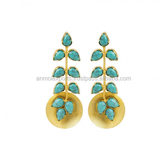 925 Sterling Silver Earring with Turquoise Factory Price Earring