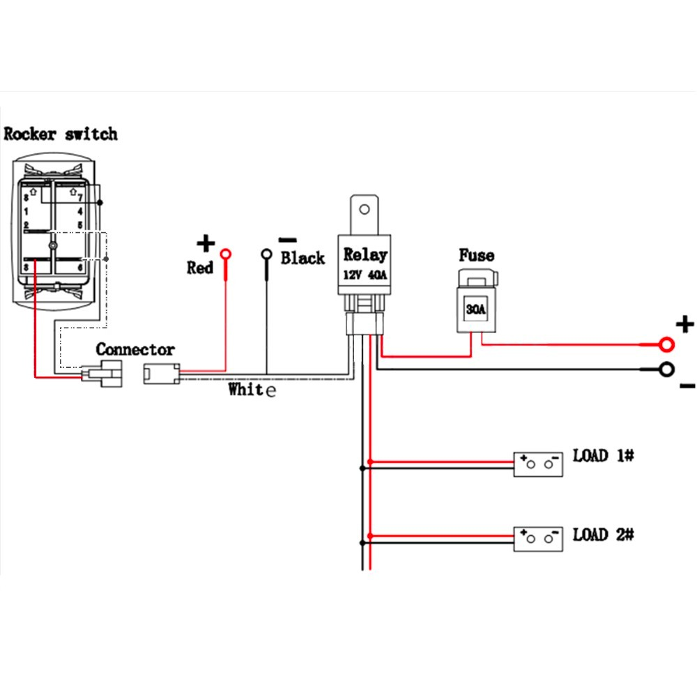 quality assurance momentary carling lighted 5 terminals 5 12 volt actuator wiring diagram schematic