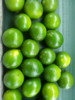Fresh green seedless lime