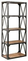 Industrial & vintage Iron metal & solid wood 5 shelves Book shelves