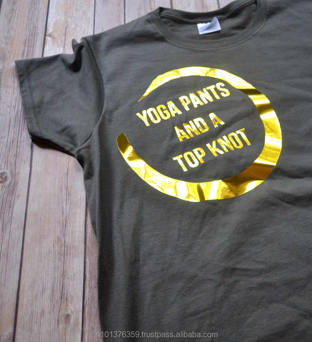 Foil Printed Bio Washed T Shirt