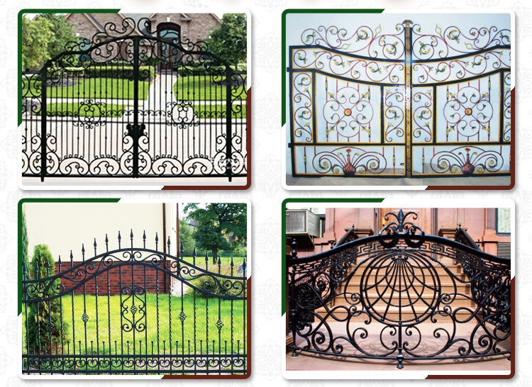 American Simple Antique Single Outdoor Used Italian Entrance Latest Rustic Garden  Steel Gate Designs