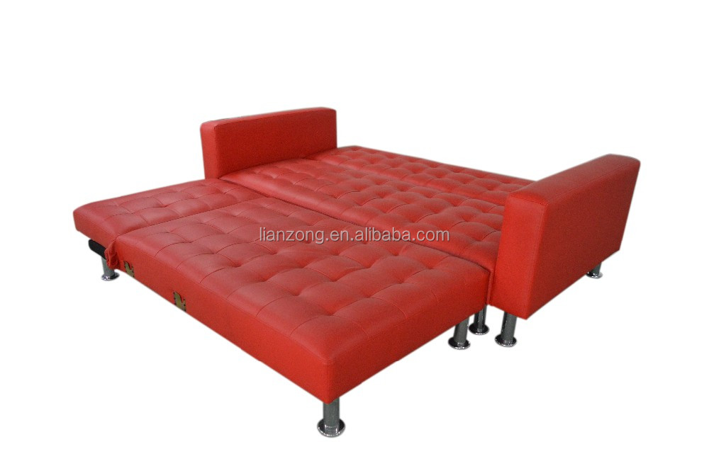 PU modern new design corner sofa bed LZ1748K