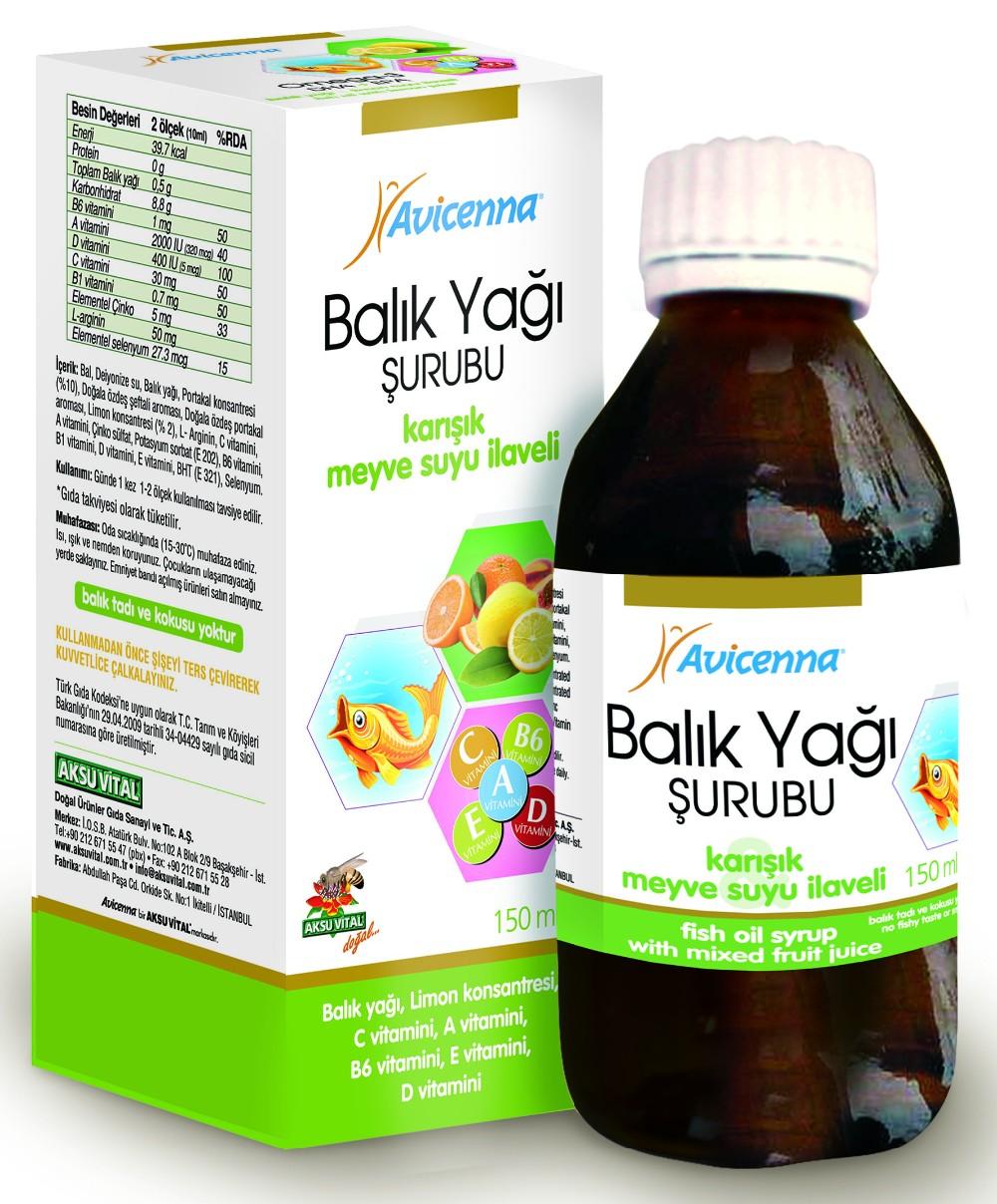 Vitamin A Palmitate Ayurvedic Herbal Fish Oil Omega 3 Syrup ...