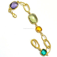 22 Carat Gold Plated Bio-Light Charms Simple Bracelets