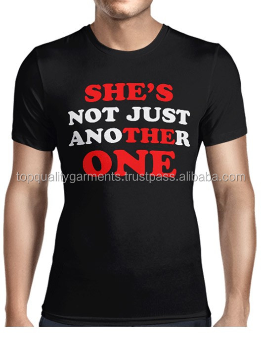 She's Not Just Another One Black Men's Cotton Polyester Gents Gentleman Plain Customize Printed T-Shirt Tee