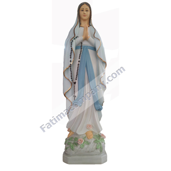 Our Lady Of Lourdes - 60 (white/ Color) - Virgin Mary - Hand-painted In  Traditional Colors - Buy Our Lady Of Lourdes,Statues,Religious Statues  Product