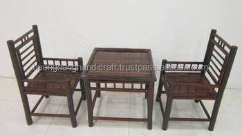 Lastest Design Bamboo Furniture Made In Vietnam, Natural Set Of Bamboo  Table And Chairs