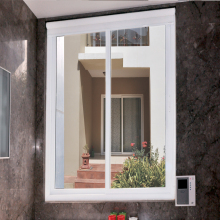 Indian Supplier Polywood White Plastic window Two Track Sliding UPVC Windows