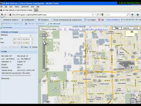 GPS Tracker . Localizador GPS software Online demo