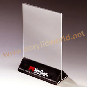 DL size acrylic menu display holder with UV printing on base