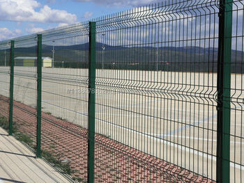 Hdg Electrostatic Powder Painted Panel Fence Ready To
