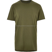 Dark Green Longline T-shirt Men Graphic Short Sleeve Sport Fashion Stylish Custom Cheap Wholesale Embroider OEM Customized Print