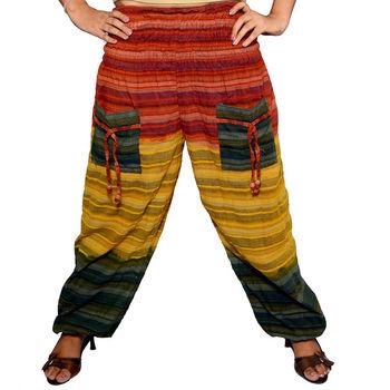 ec51f9e58c1 Tie dye Cotton Harem Pants Baggy Afghani Gypsy Hippie Unisex Trouser Yoga  Hippie Boho Loose Harem