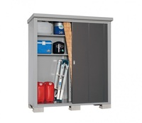 Easy to assemble garden storage house W3.6-5.3 feet by D1.7-2.3 feet with lock on sliding door made in Japan