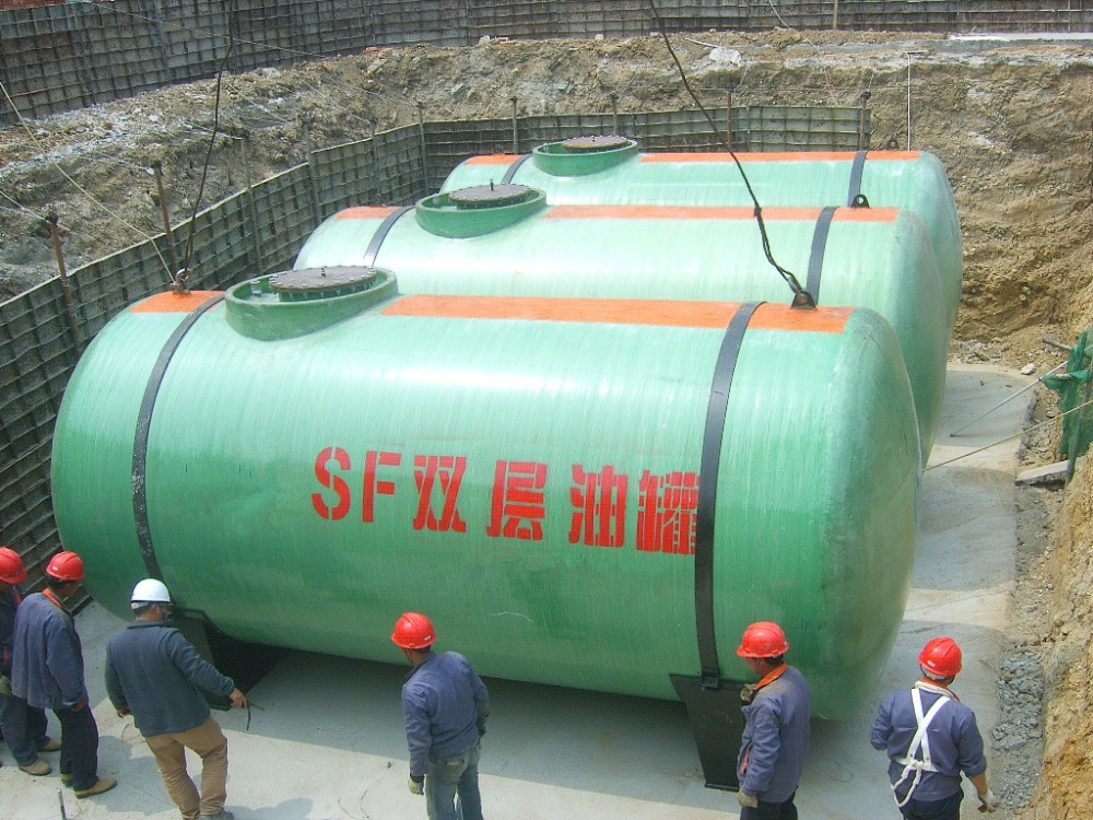20000l To 50000l Sf Fiber Glass Double Wall Underground