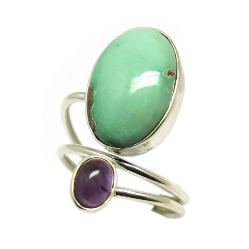 Purple Planet !! Amethyst Turquoise 925 Sterling Silver Ring, Unique Silver Jewelry, Sterling Rings
