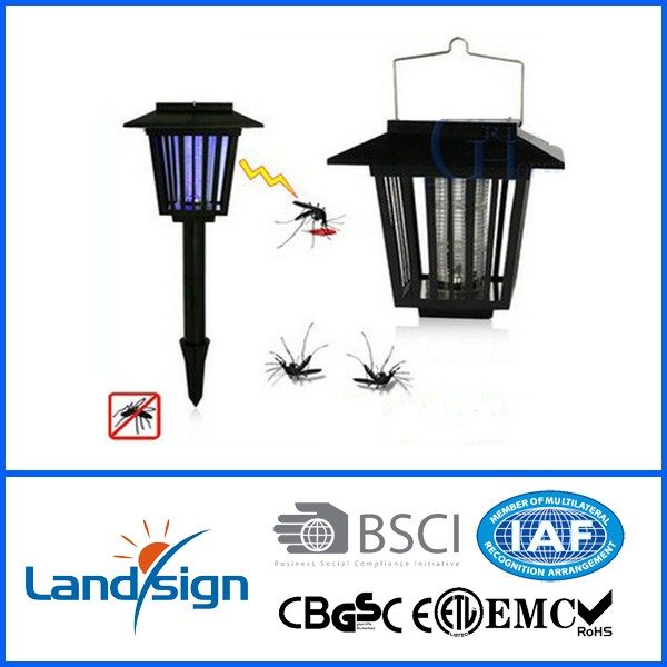 China Supplier Solor Power UV Mosquito Insect Bug Zapper Killer Garden Light XLTD-101-1