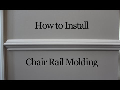 Get Quotations · How To Install Chair Rail Molding