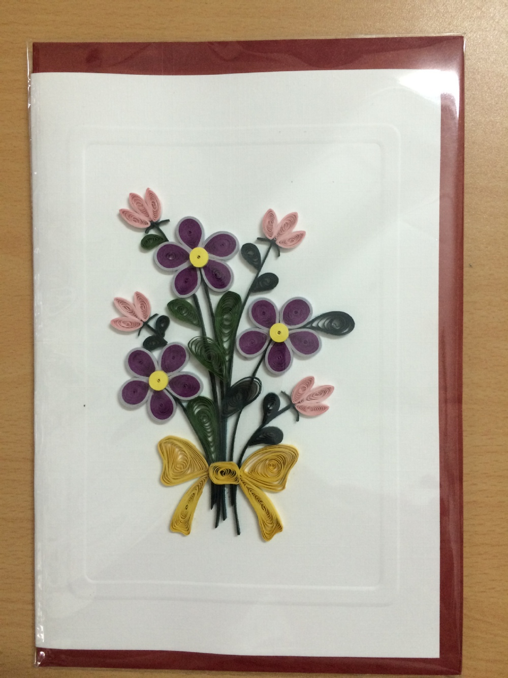 Quilling Handmade Paper Flower Card